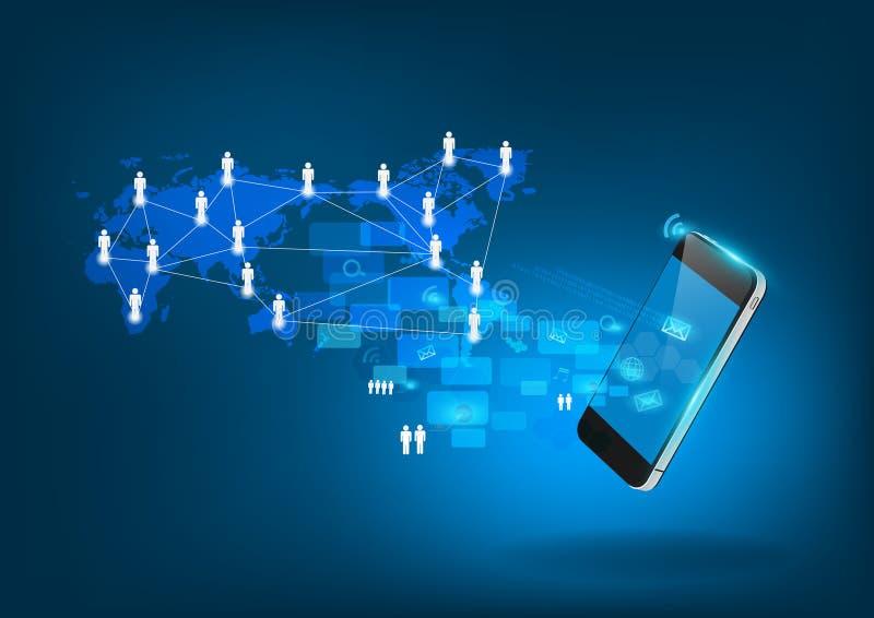 Vector mobiel van de bedrijfs telefoontechnologie concept vector illustratie