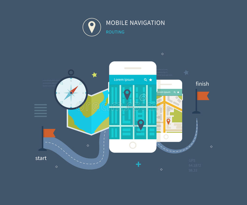 Vector mobiele telefoon - geschiktheidsapp concept  vector illustratie