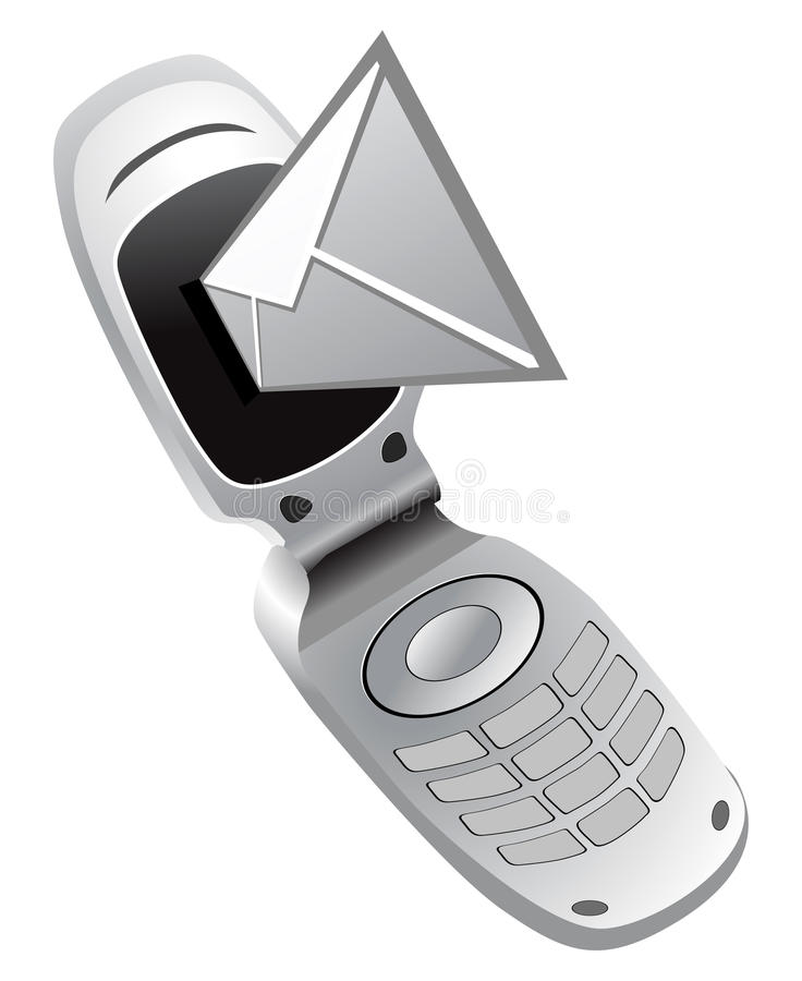 Download Vector Mobile Phone With Sms Stock Vector - Illustration of chip, message: 13959518