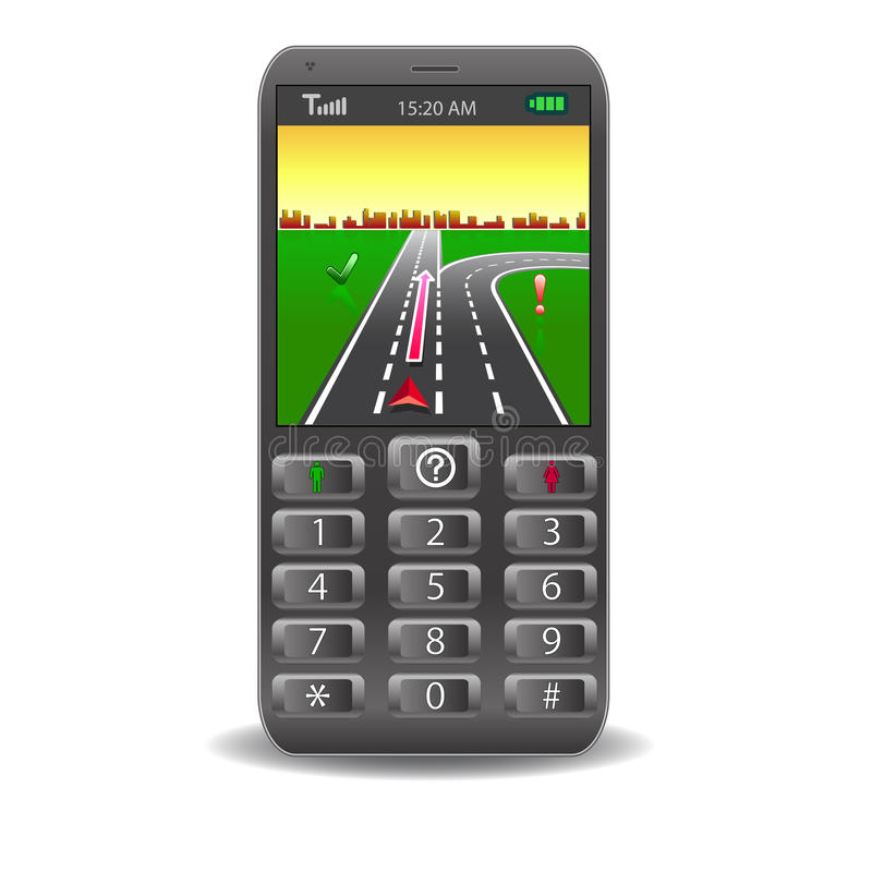 Vector mobile phones stock photography