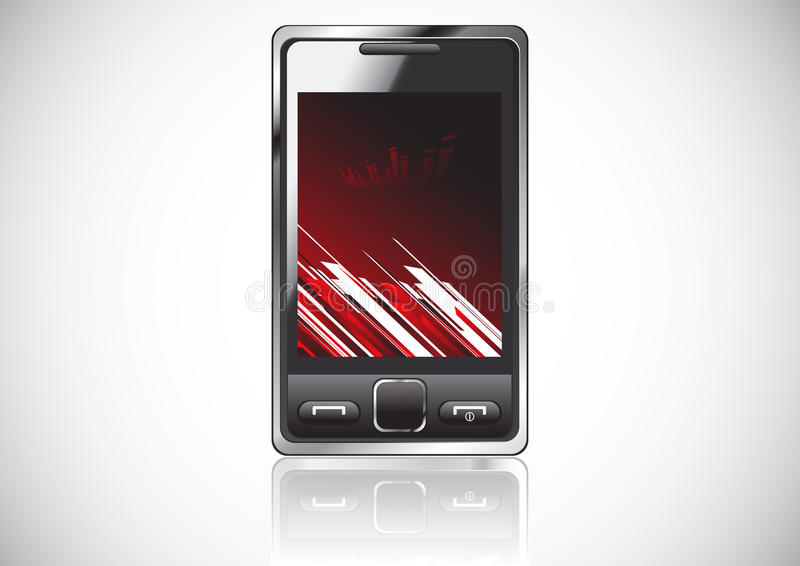 Vector mobile with red background