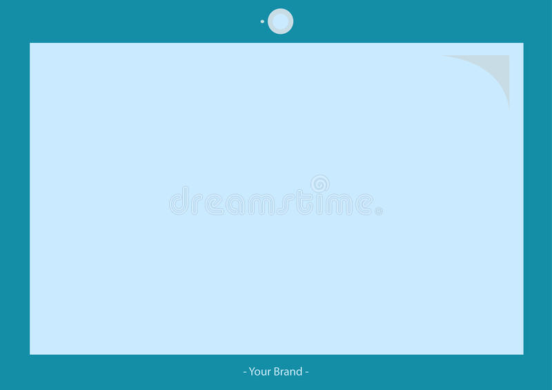 Vector Mock up for laptop Monitor stock photo