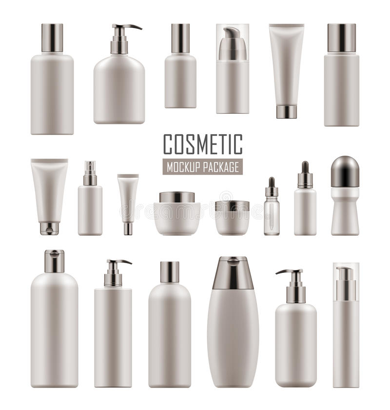 Vector mockup for cosmetic product vector illustration