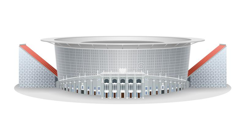 Vector model of Ekaterinburg Arena football stadium vector illustration