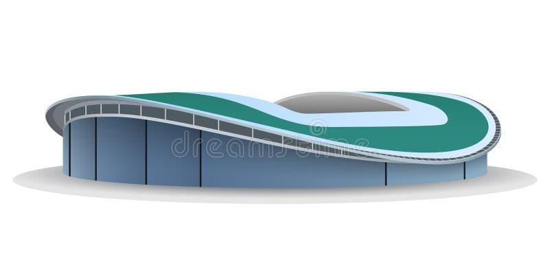 Vector model of football stadium stock illustration