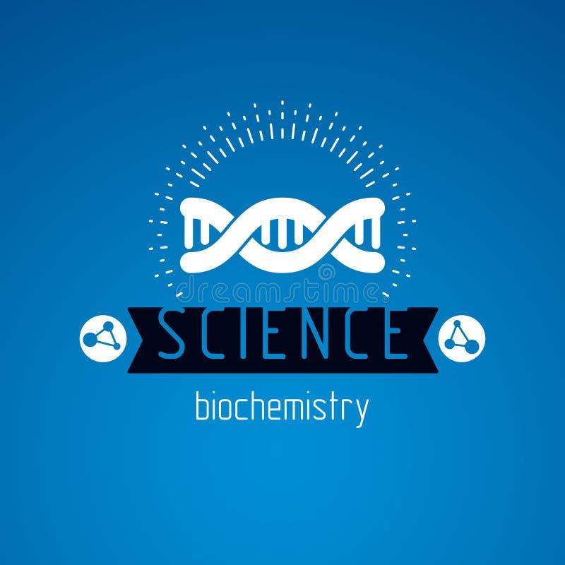 Vector model of human DNA, double helix. Bioengineering and genetics conceptual vector logo. Vector model of human DNA, double helix. Bioengineering and vector illustration