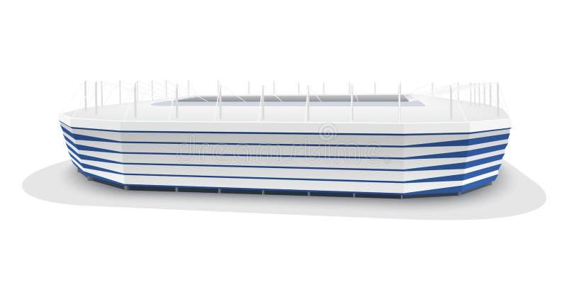 Vector model of Kaliningrad football stadium royalty free illustration