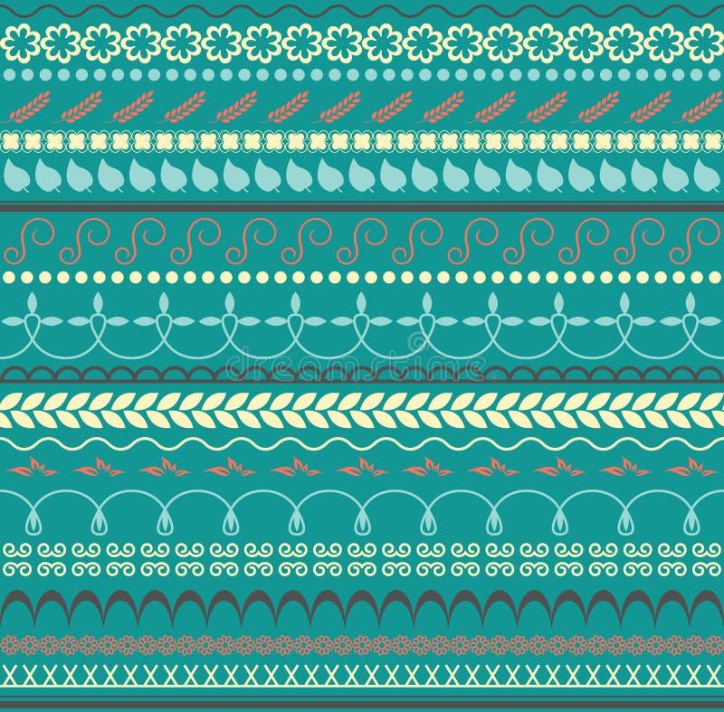 Vector Modelo inconsútil floral Fondo horizontal para la materia textil, el papel o la otra decoración Paleta de colores de moda ilustración del vector