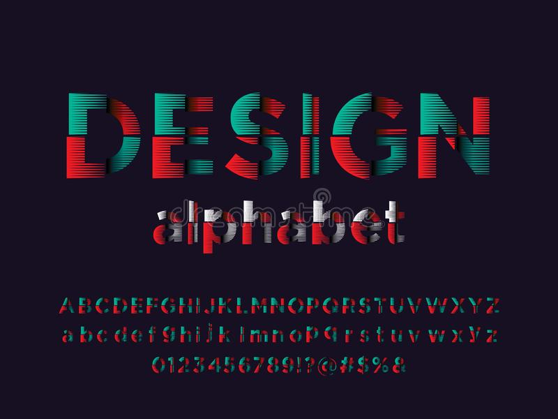Abstract font. Vector of modern abstract alphabet design stock illustration