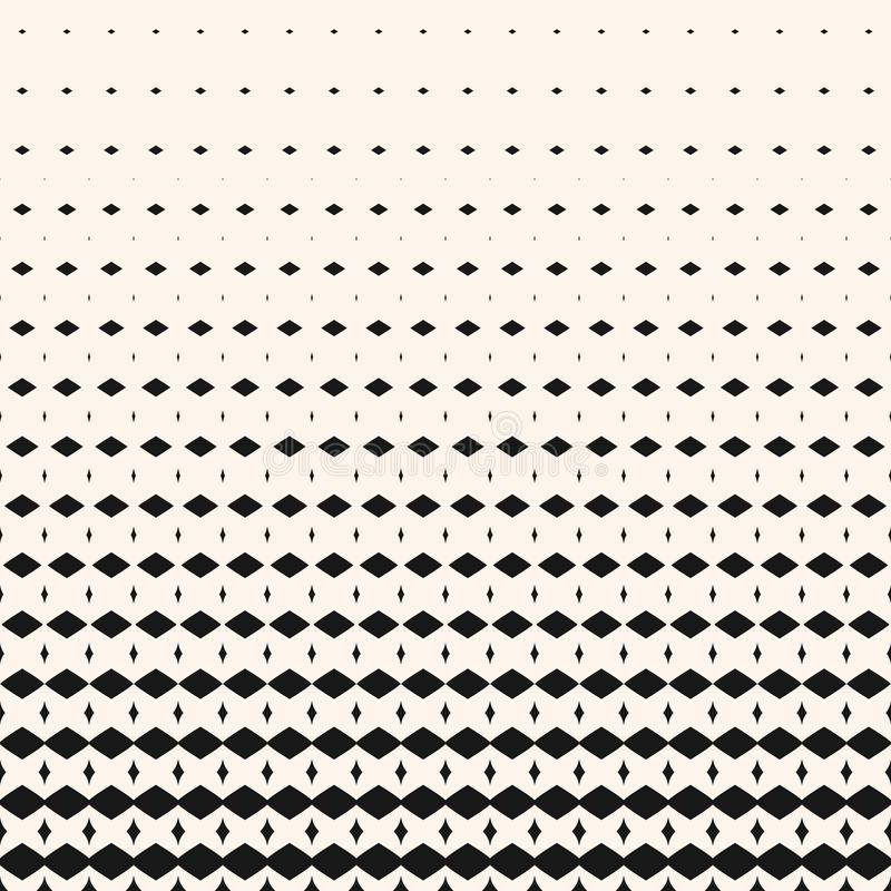 Vector modern abstract geometric halftone pattern with fade rhombuses, diamonds stock illustration