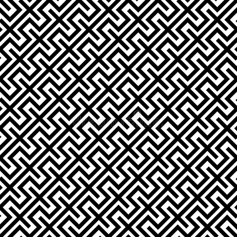Vector modern abstract geometry lines pattern. black and white seamless geometric background royalty free illustration