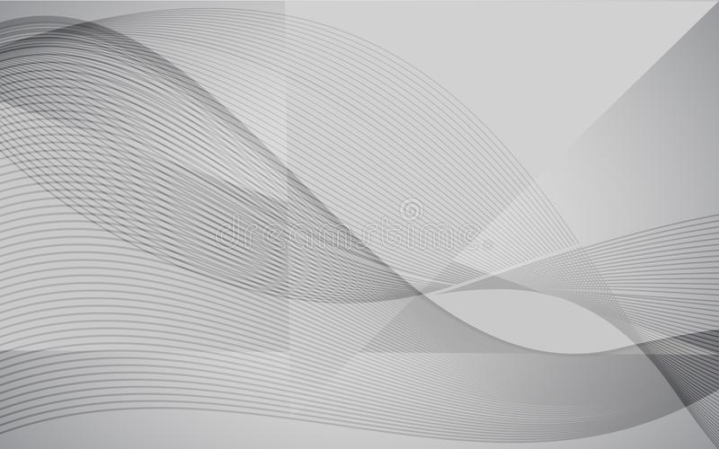 Vector modern abstract wave background with line design. White grey wallpaper for website, brochure, poster, flyer and magazine co royalty free illustration