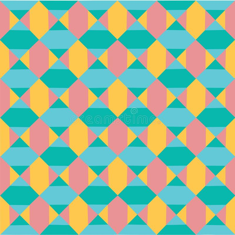 Vector modern colourful pastel geometry pattern abstract seamless background, retro texture vector illustration
