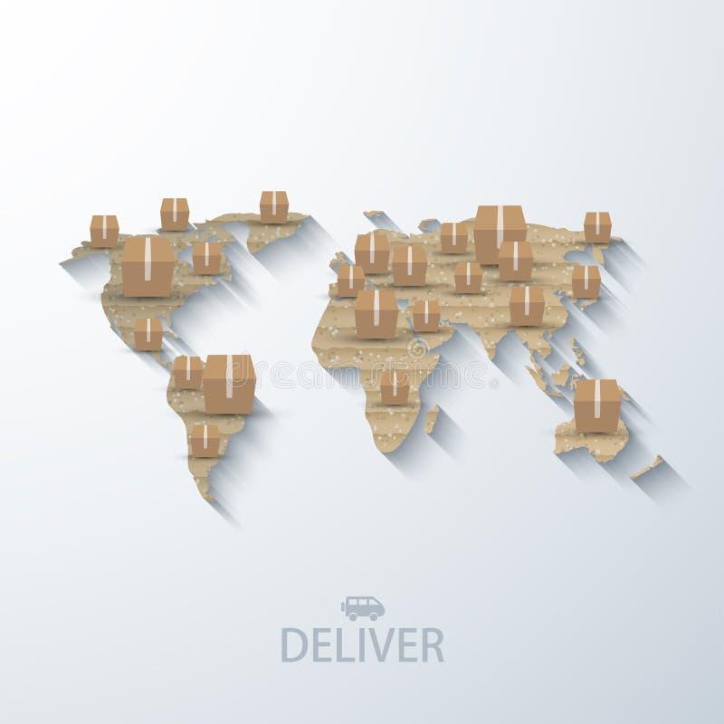 Vector modern concept delivery background. stock illustration