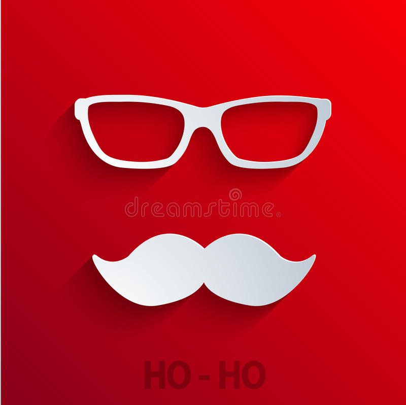 Vector modern concept santa claus icon on red vector illustration