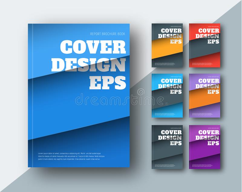 Vector modern covers with diagonal colored stripes royalty free illustration