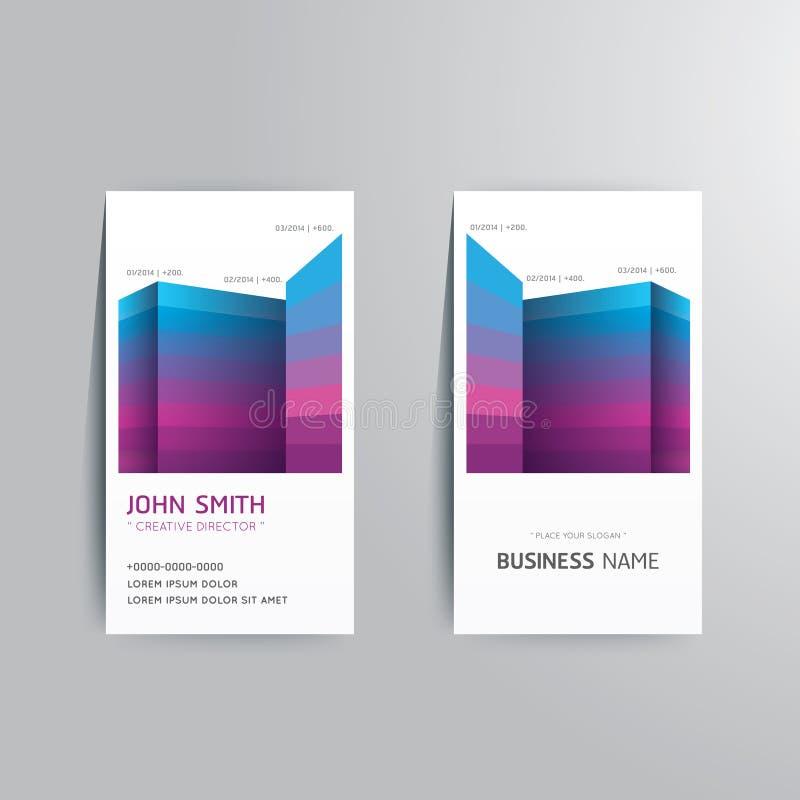 Vector modern creatief adreskaartjemalplaatje. vector illustratie
