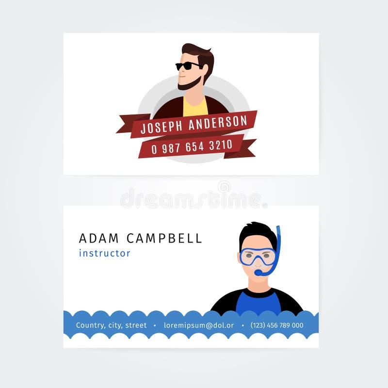 Vector Modern Creatief en Schoon Adreskaartje royalty-vrije illustratie