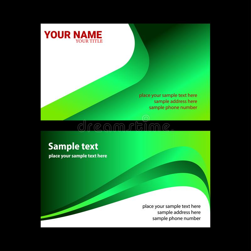 Vector Modern Business Card Template royalty free illustration