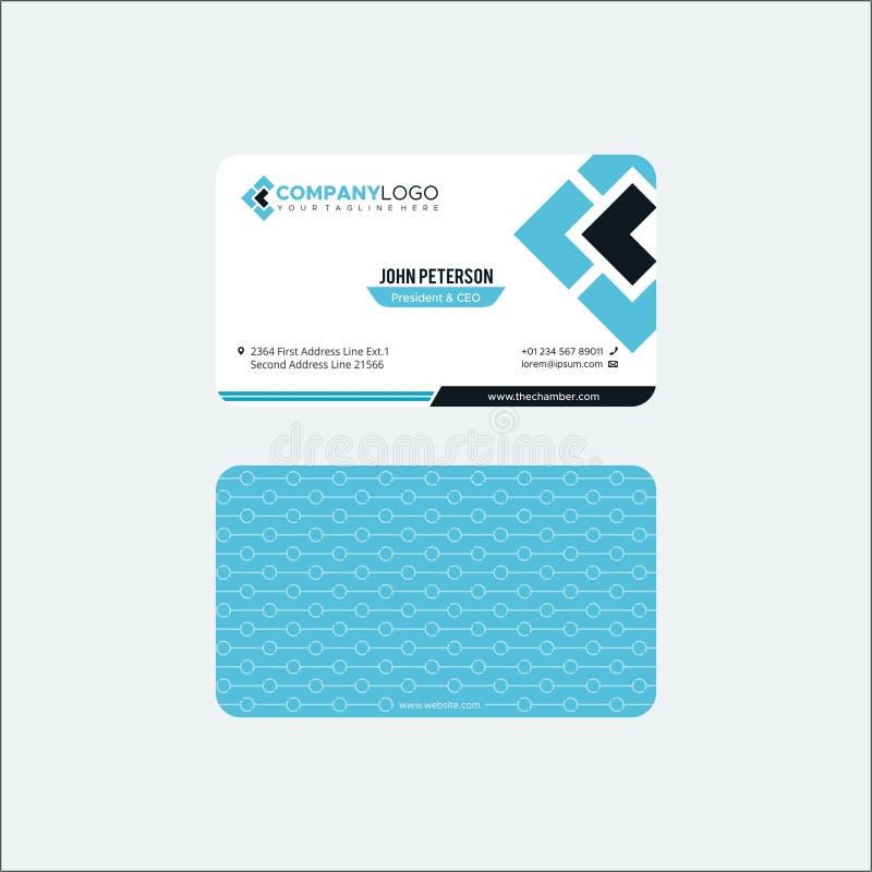 Vector Modern Creative and Clean Business Card Template 库存例证