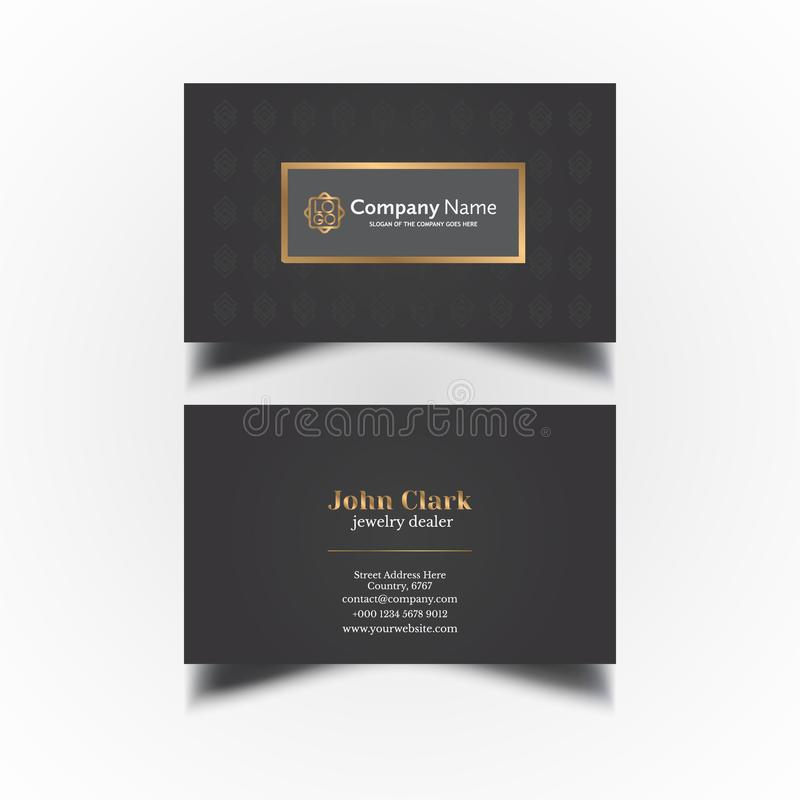 Vector Modern Creative and Clean Business Card Template vector illustration
