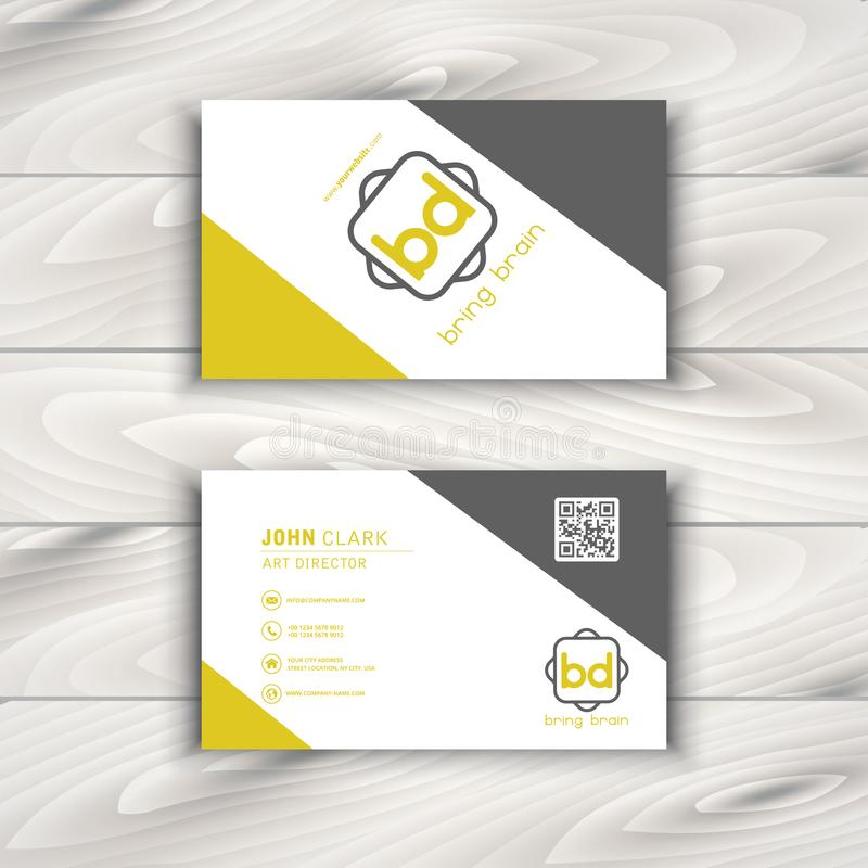 Vector Modern Creative and Clean Business Card Template royalty free illustration