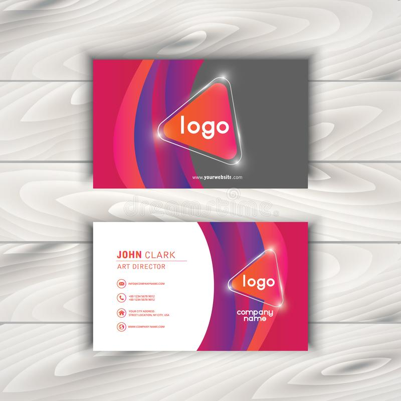 Vector Modern Creative and Clean Business Card Template stock illustration