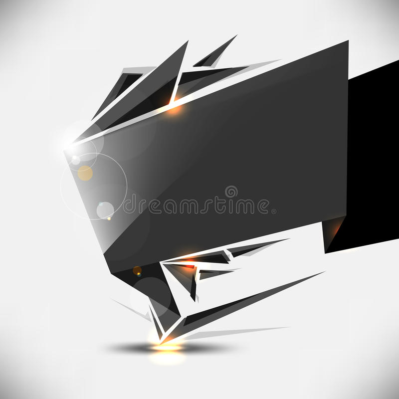 Vector modern frame background design stock illustration