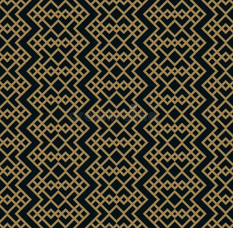 Vector modern geometric tiles pattern. golden lined shape. Abstract art deco seamless luxury background vector illustration