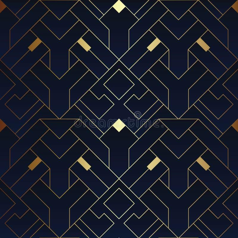 Abstract art deco seamless pattern 16 vector illustration
