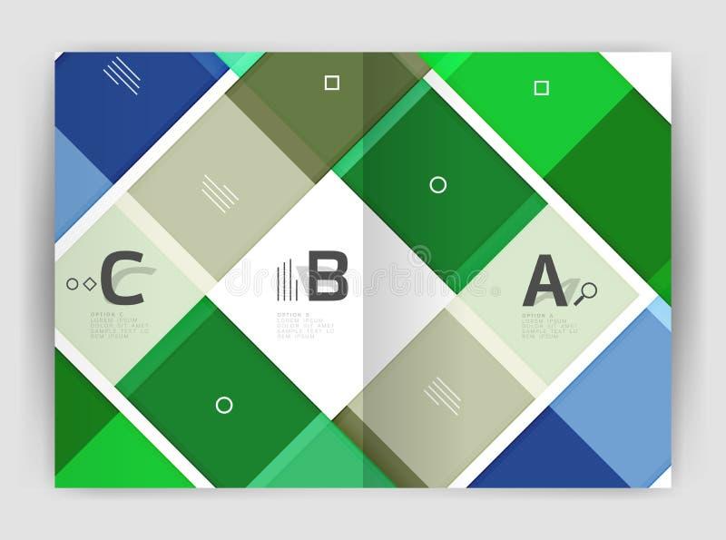 Vector modern geometrical a4 flyer brochure template stock illustration