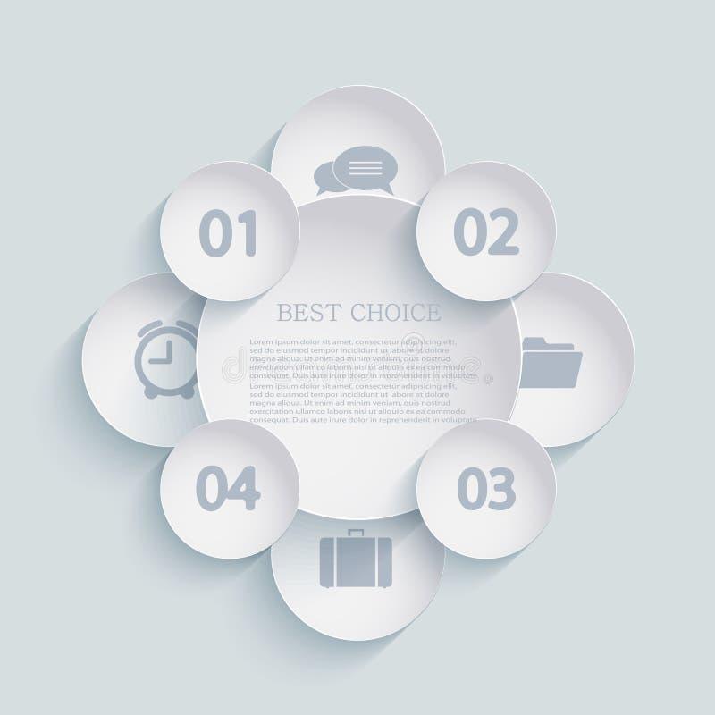 Vector modern infographic elementenontwerp. Eps 10 stock illustratie