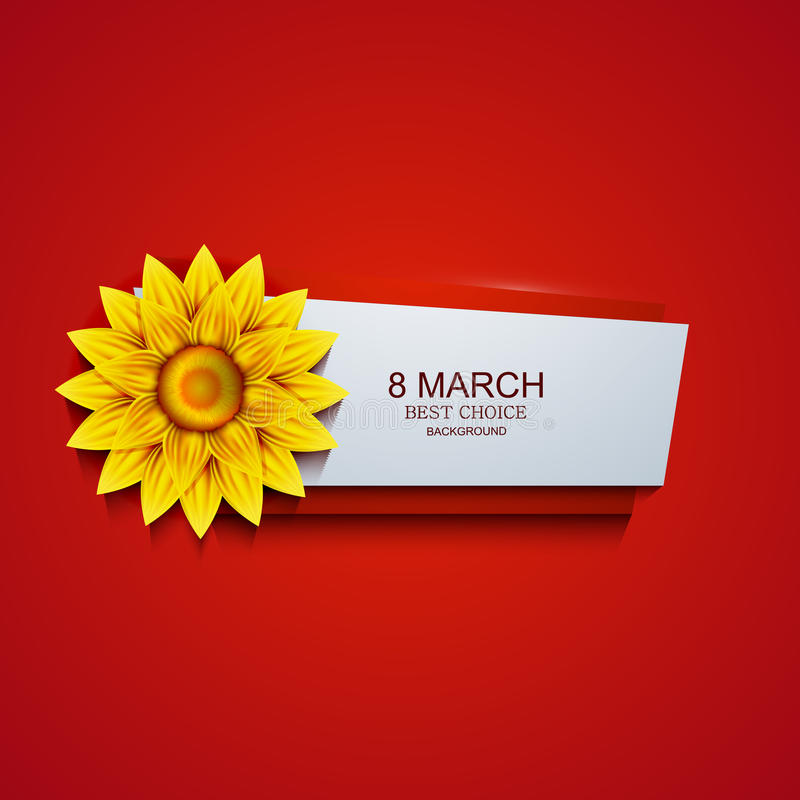 Vector modern 8 march background. Womens day vector illustration