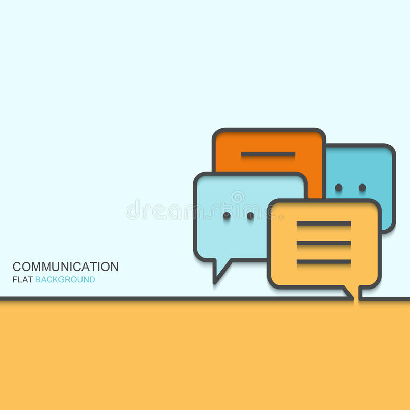 Vector modern outline flat design of communication royalty free illustration