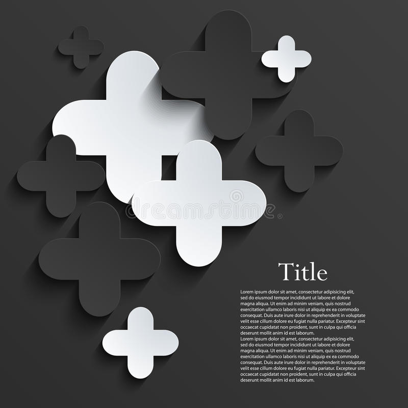 Vector modern pus or cross background template royalty free illustration