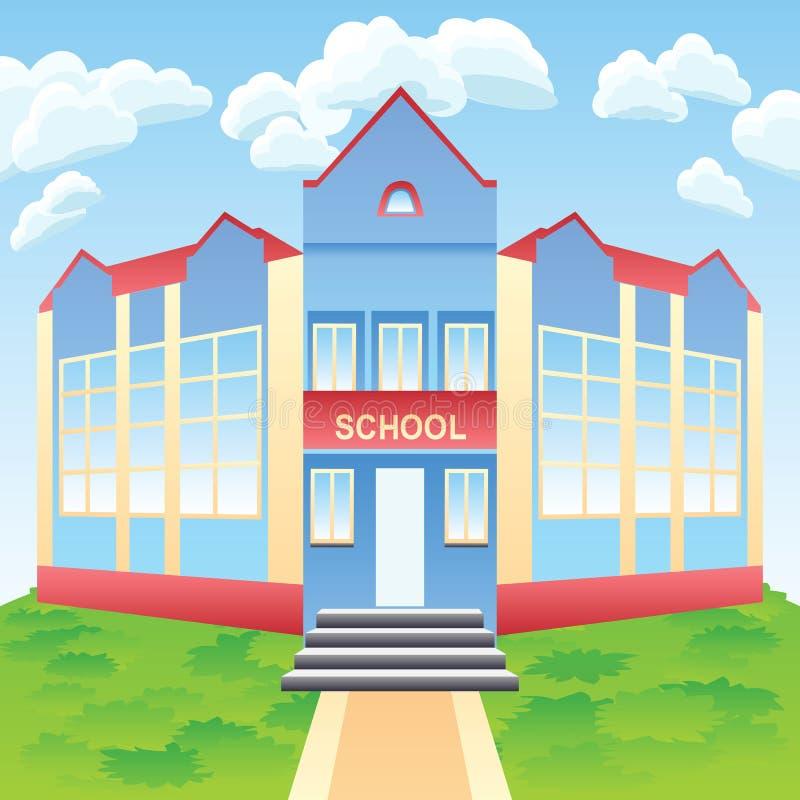 Vector modern school building stock image