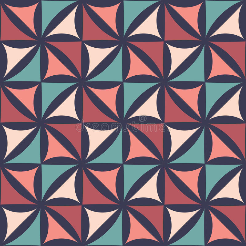 Vector modern seamless colorful geometry floral pattern, color abstract geometric background royalty free illustration