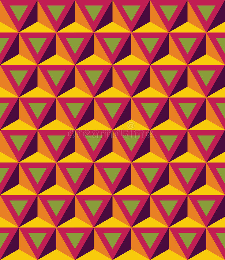 Free Vector Modern Seamless Colorful Geometry Pattern, 3D Triangles Stock Photography - 60662382