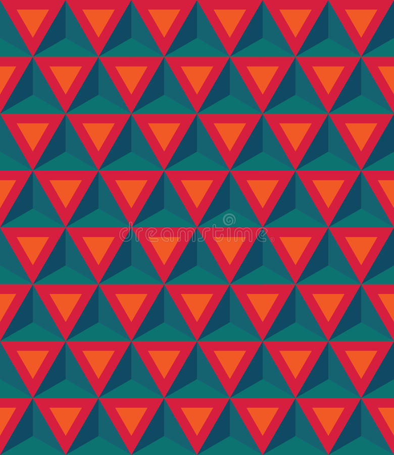 Free Vector Modern Seamless Colorful Geometry Pattern, 3D Triangles, Stock Images - 61129514
