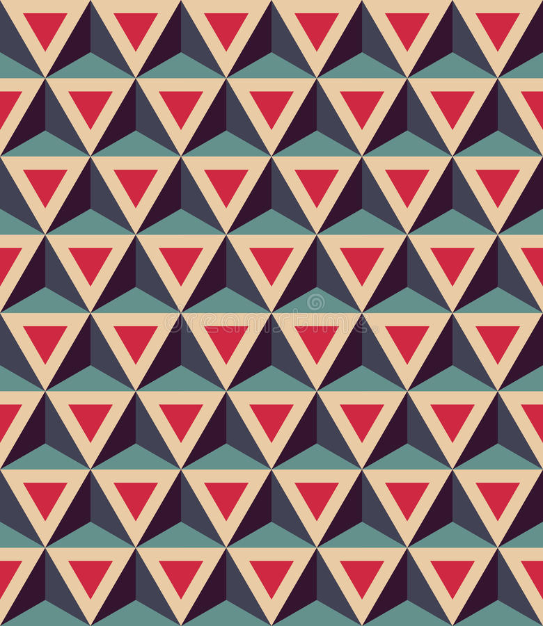 Free Vector Modern Seamless Colorful Geometry Pattern, 3D Triangles, Color Red Blue, Abstract Stock Photo - 61027010