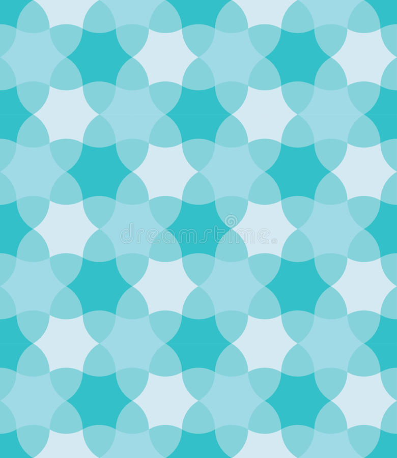 Vector modern seamless colorful geometry pattern, flowers, color blue abstract vector illustration