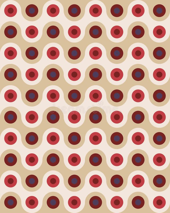 Vector modern seamless colorful geometry pattern overlapping circles stock illustration