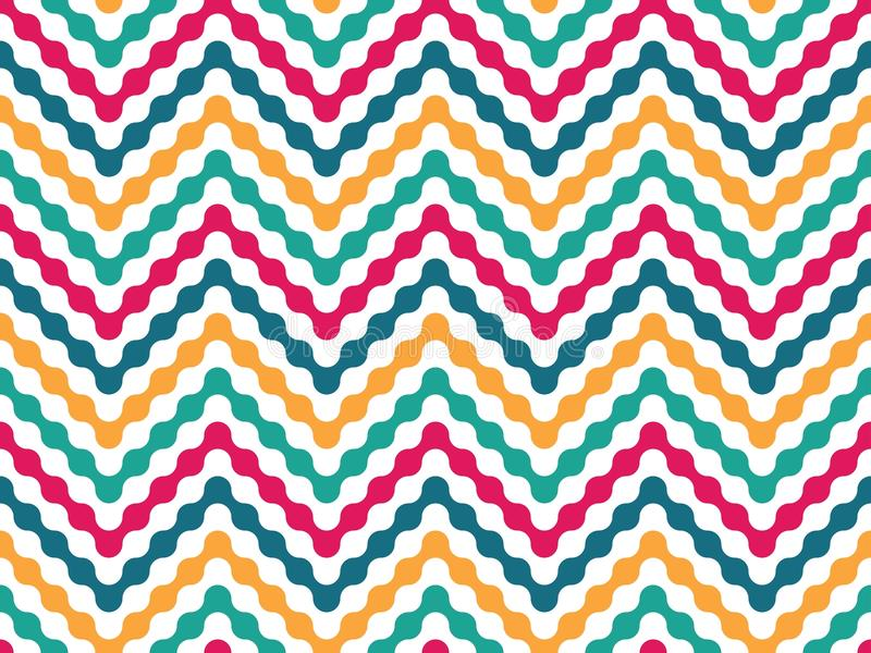 Download Vector Modern Seamless Colorful Geometry Pattern Zigzag Line Stock