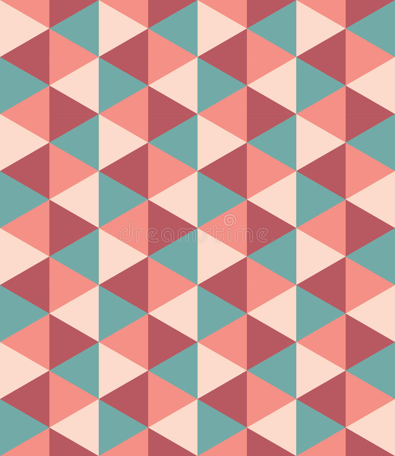Vector modern seamless colorful geometry triangle pattern, color abstract stock illustration