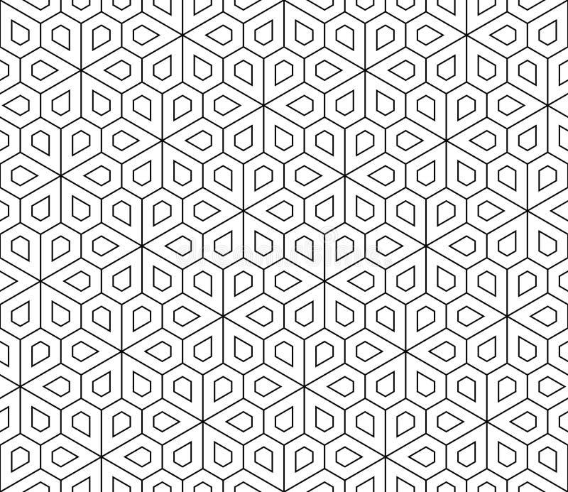 Vector Modern Seamless Geometry Pattern Flower Stock ...