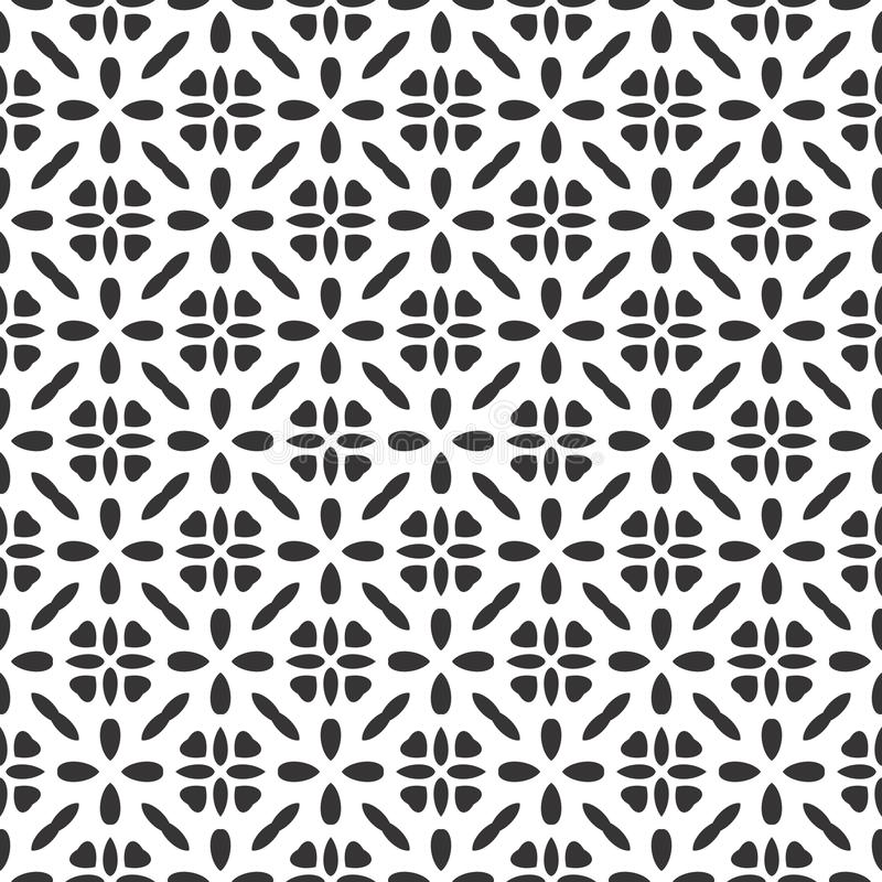 Black And White Safari Pattern Vector modern seamless geometry pattern star, black and white abstract stock illustration