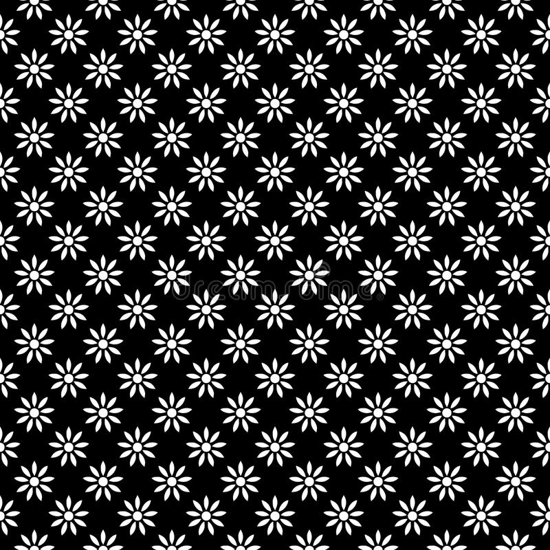 Decorative Seamless Floral diagonal Geometric Black & White Pattern Background. Complicated, material. Vector modern seamless geometry pattern star, black and stock illustration