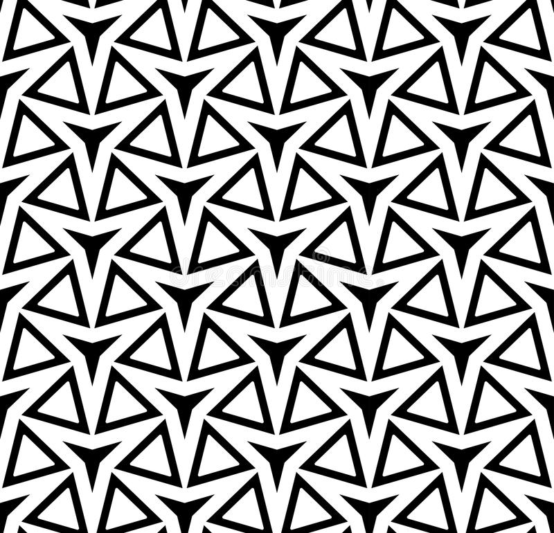 Download Vector Modern Seamless Geometry Pattern Three Point Star, Black  And White Abstract Stock Vector