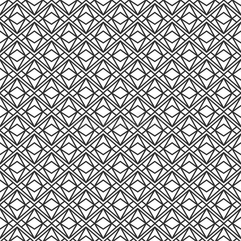 Vector modern seamless geometry pattern triangle, black and white abstract geometric background vector illustration