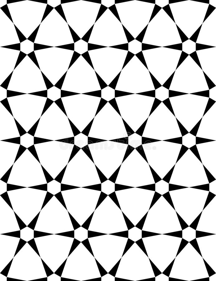 Download Vector Modern Seamless Sacred Geometry Pattern, Black And White  Abstract Stock Vector - Image